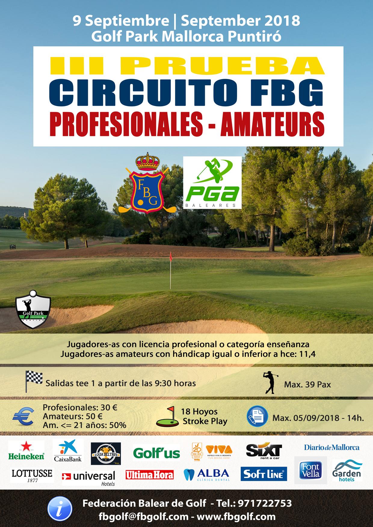 Circuito Jumilla : Fbgolf.com iii prueba circuito profesionales amateurs